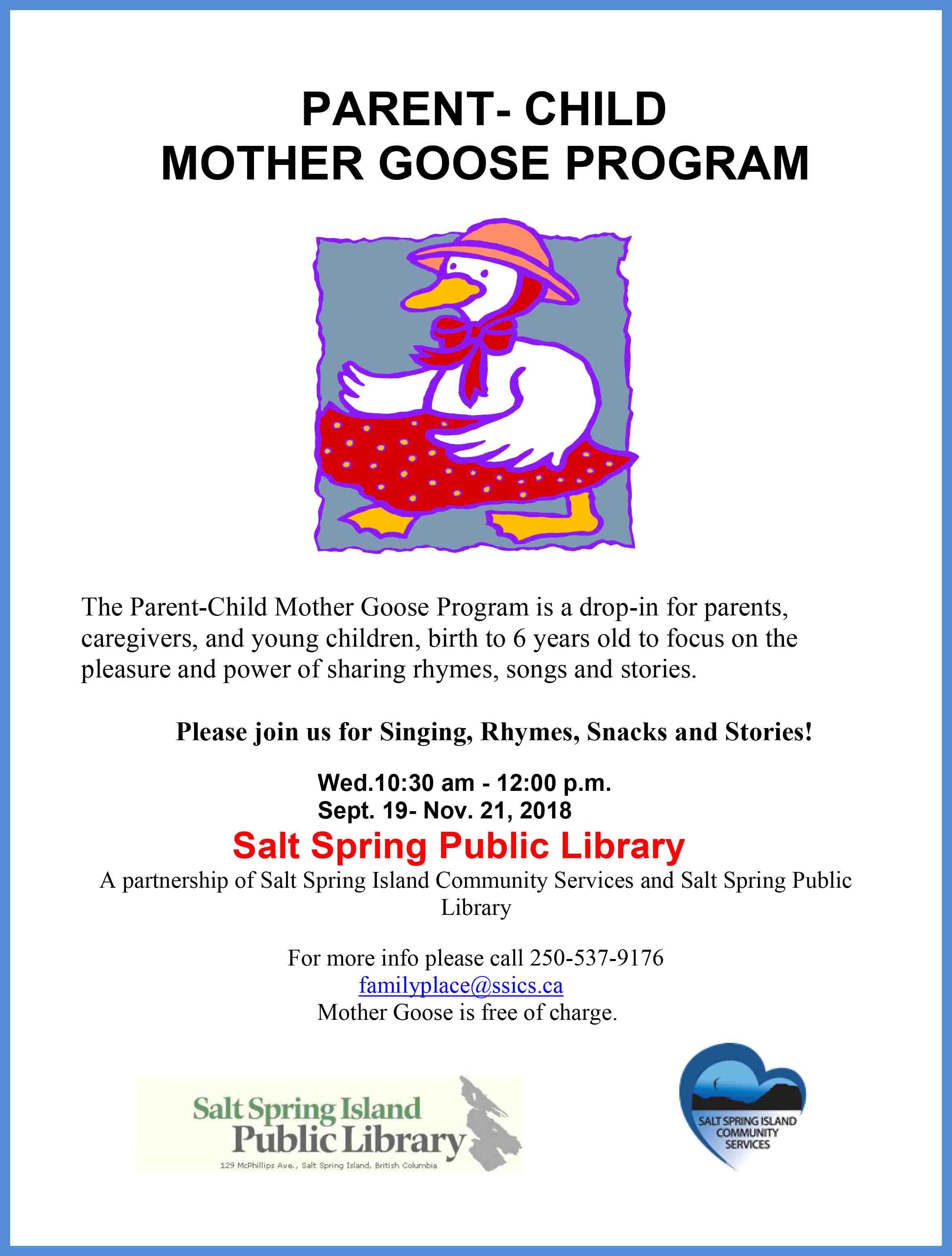 Parent-Child Mother Goose Program @ Salt Spring Library