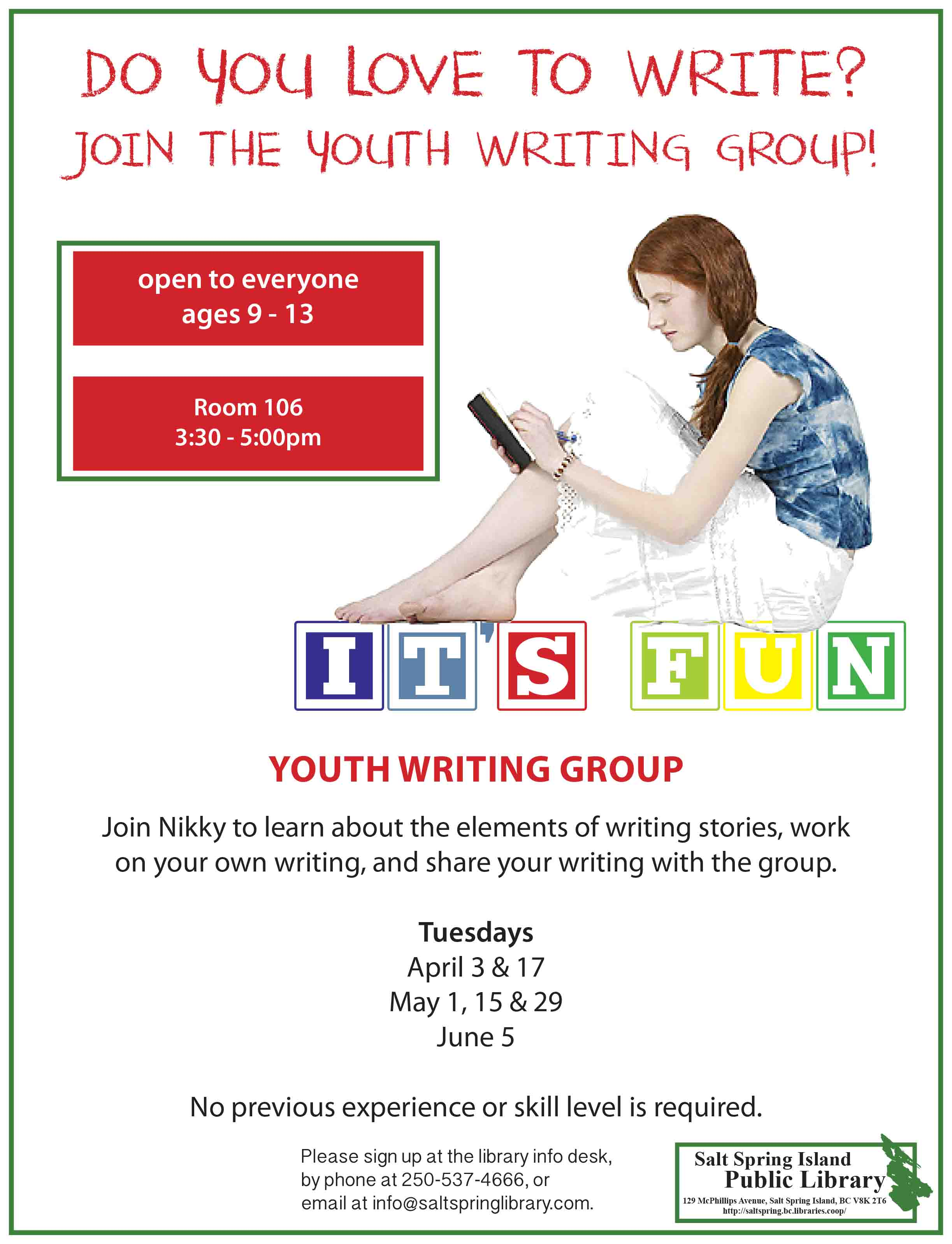 Youth Writing Group @ Meeting Room 106