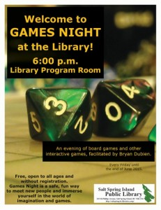 Games Night at the library 2015