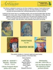 Art Talk - Mardi Mob July 2015 18 x 24