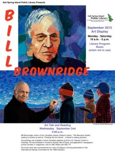 Art Talk - Brownridge Sept 2015 18 x 24