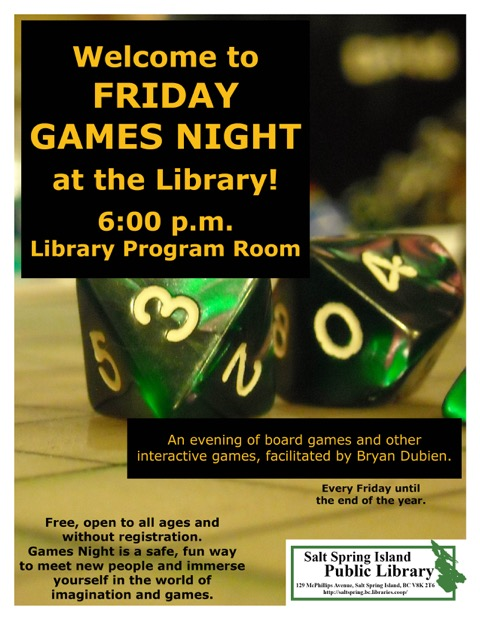 Games Night @ Library Program Room