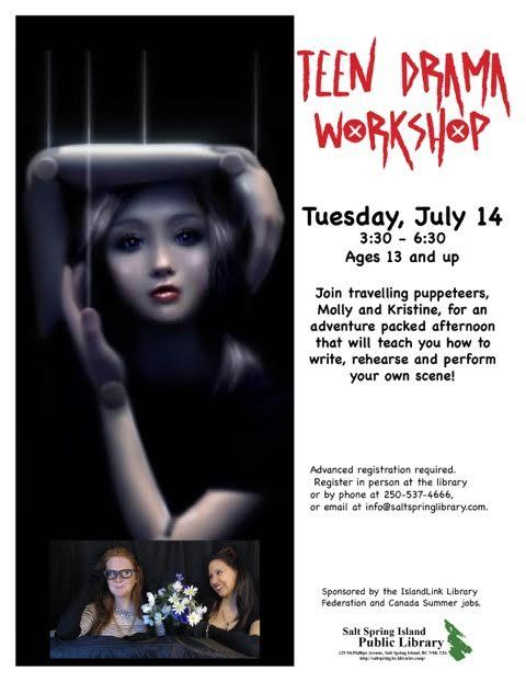 teen drama workshop 2015