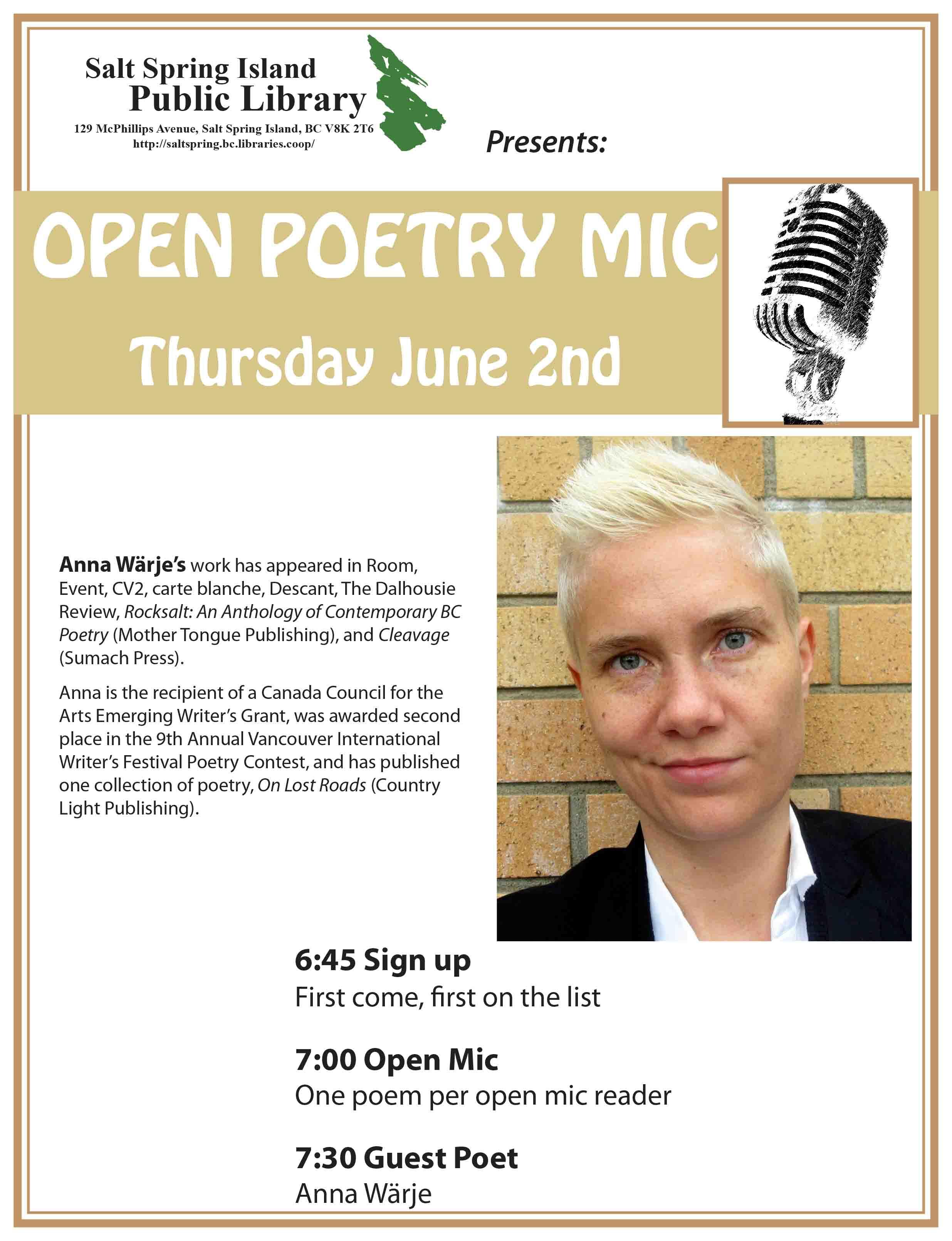Poetry night - June 2016