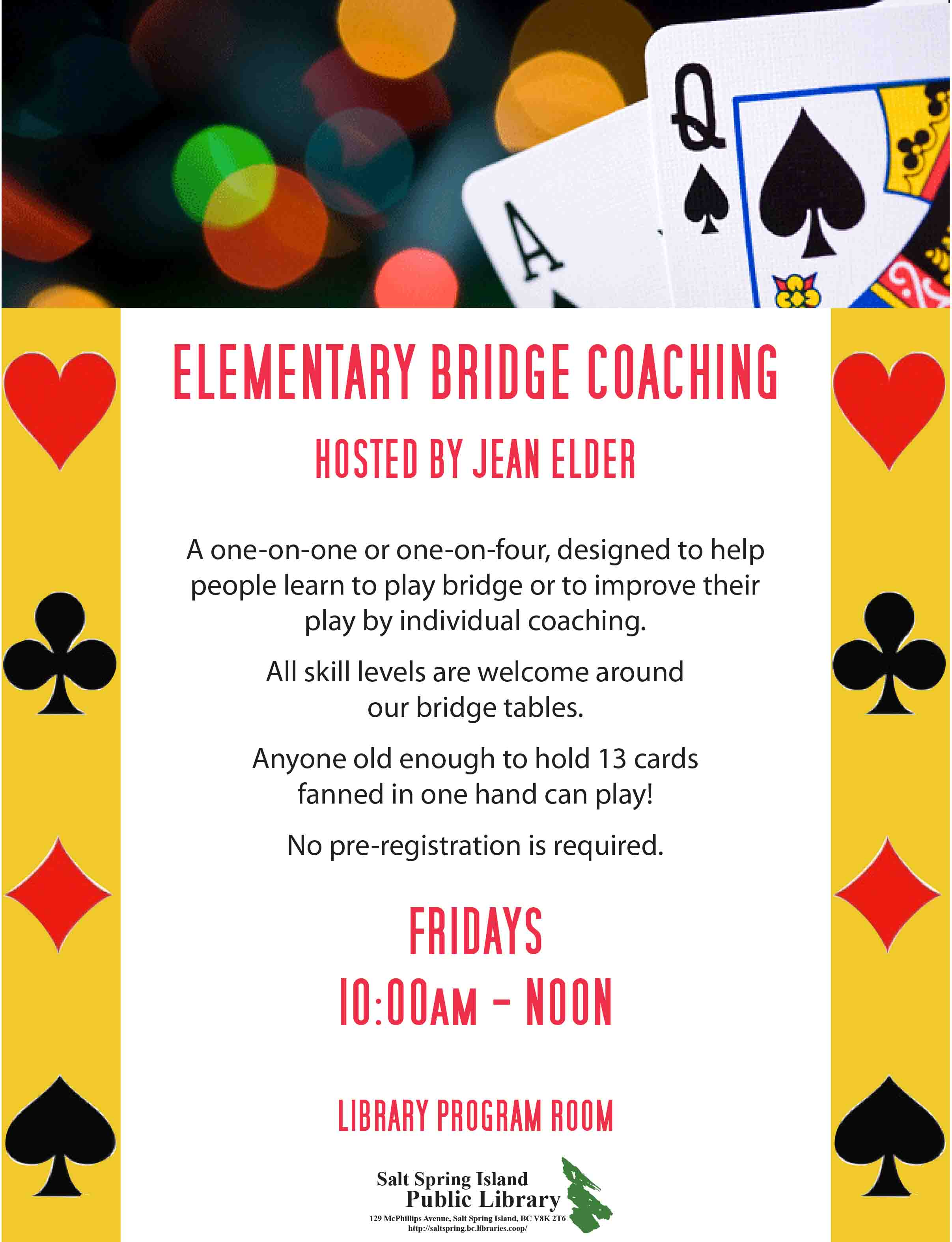 Elementary Bridge Coaching @ Library Program Room