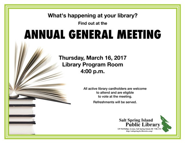 AGM @ Library Program Room