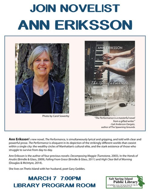 Ann Eriksson @ Library Program Room