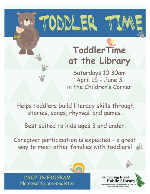 Toddler Time april 2017