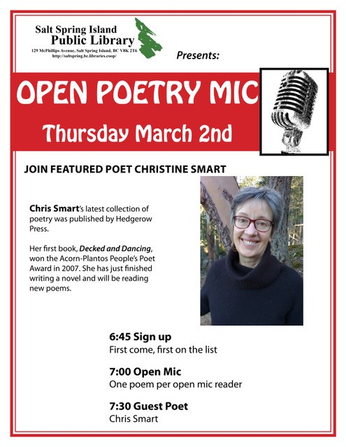 Open Poetry Mic @ Library Program Room