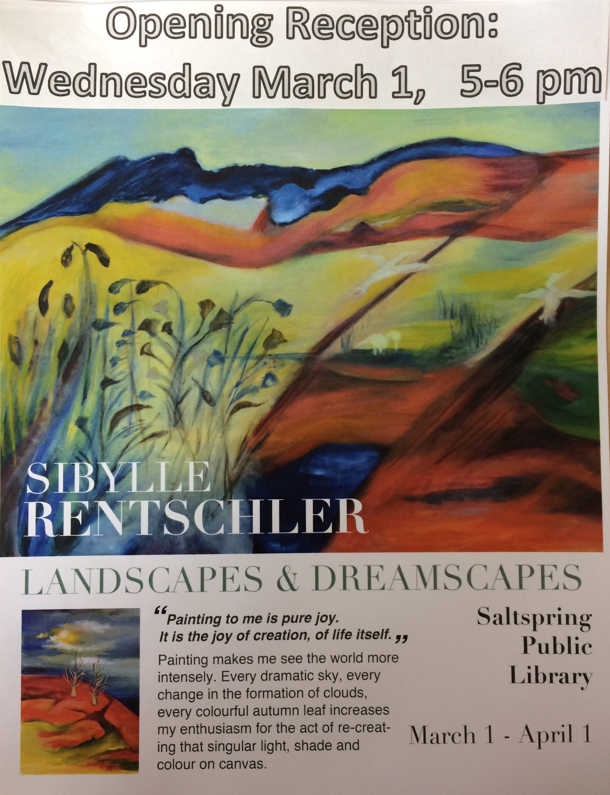 Art Reception: Sibylle Rentschler @ Library Program Room