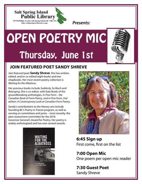 Poetry Open Mic @ Library Program Room