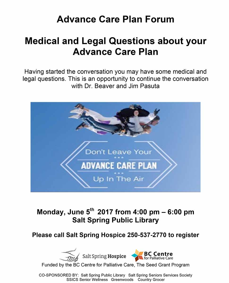 Advance Care Plan Forum @ Library Program Room