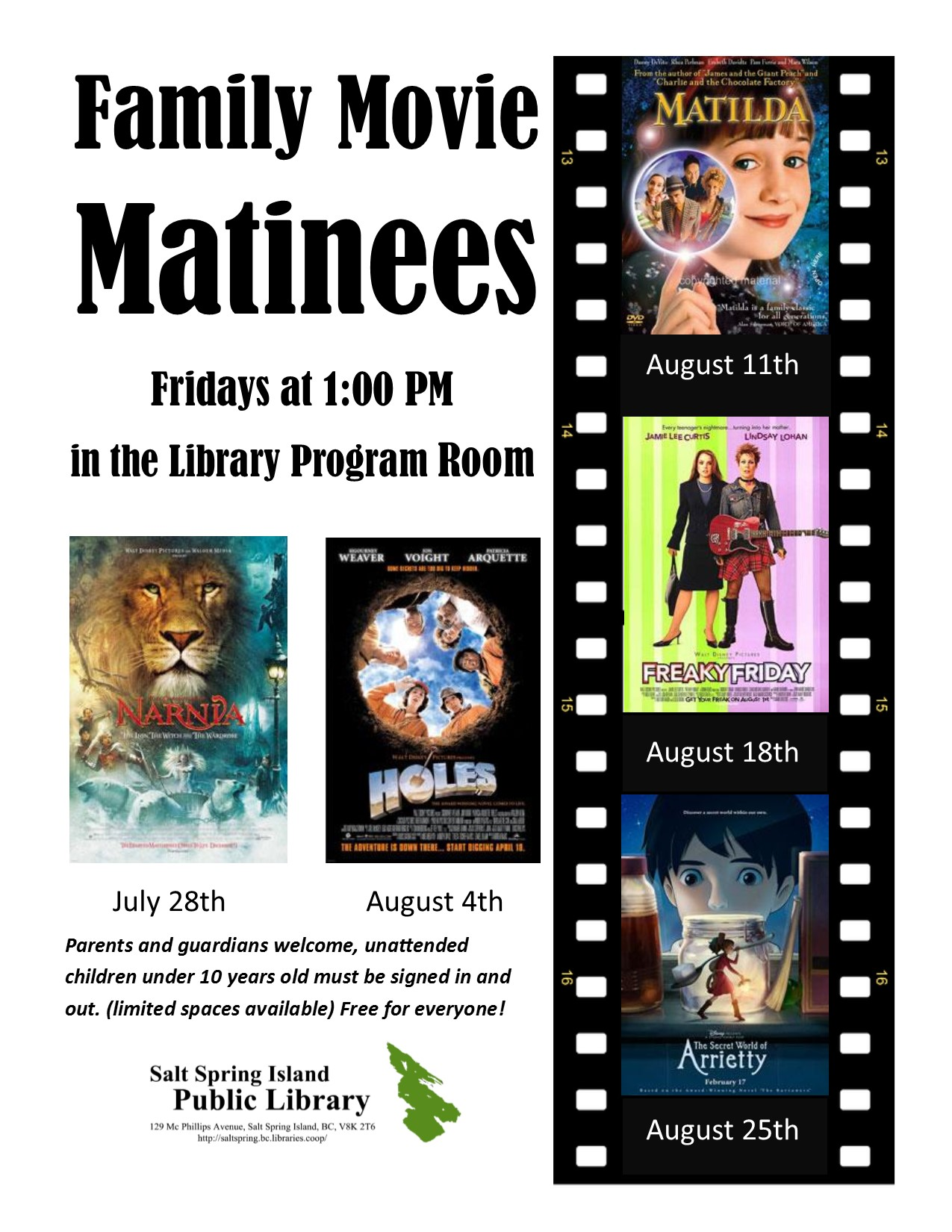 Movie Matinee at the Library @ Library Program Room