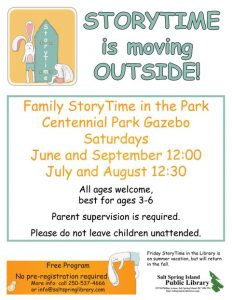 storytime in the park 2017