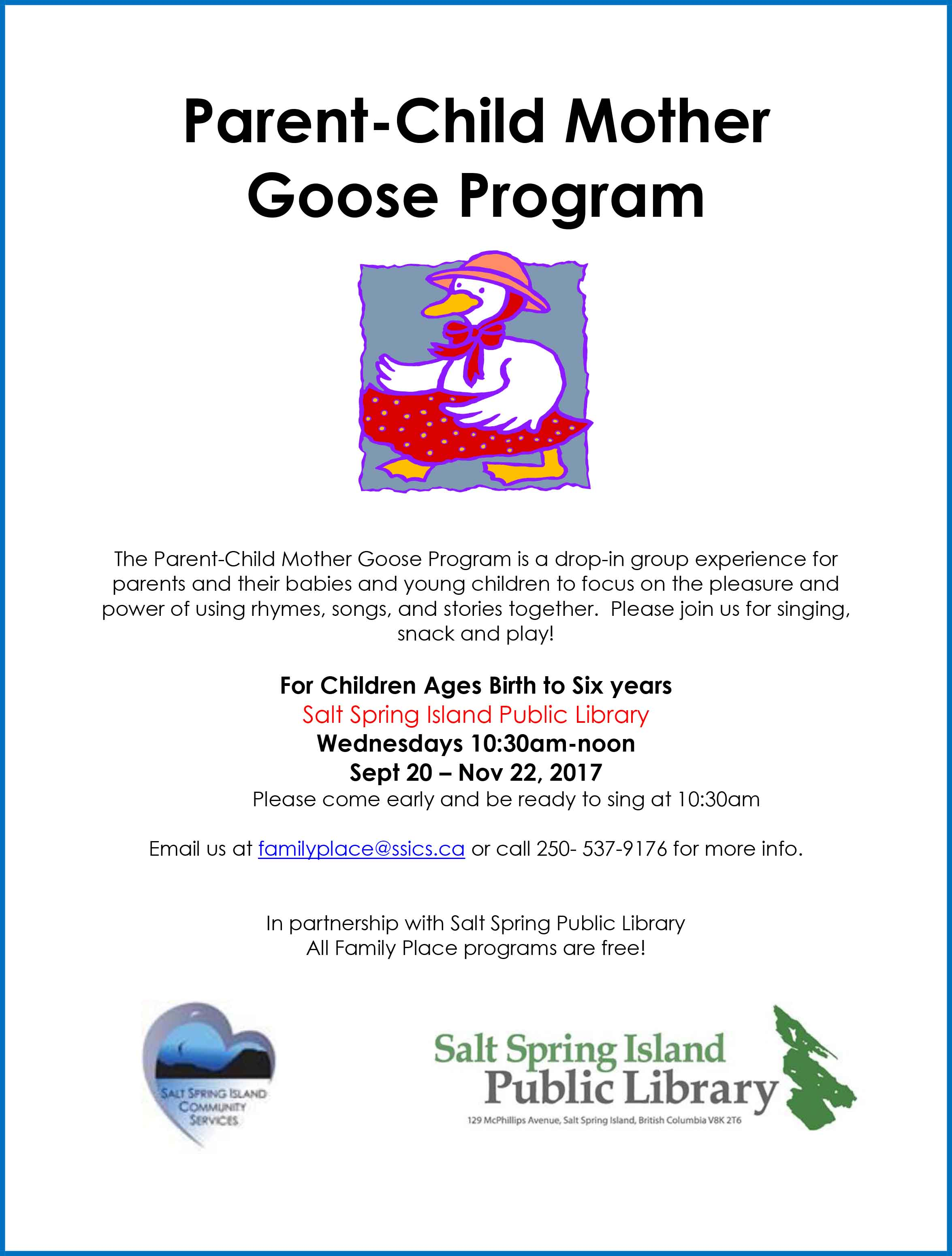 Parent-Child Mother Goose @ Library Program Room