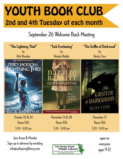 Youth Book Club @ Library Meeting Room 106