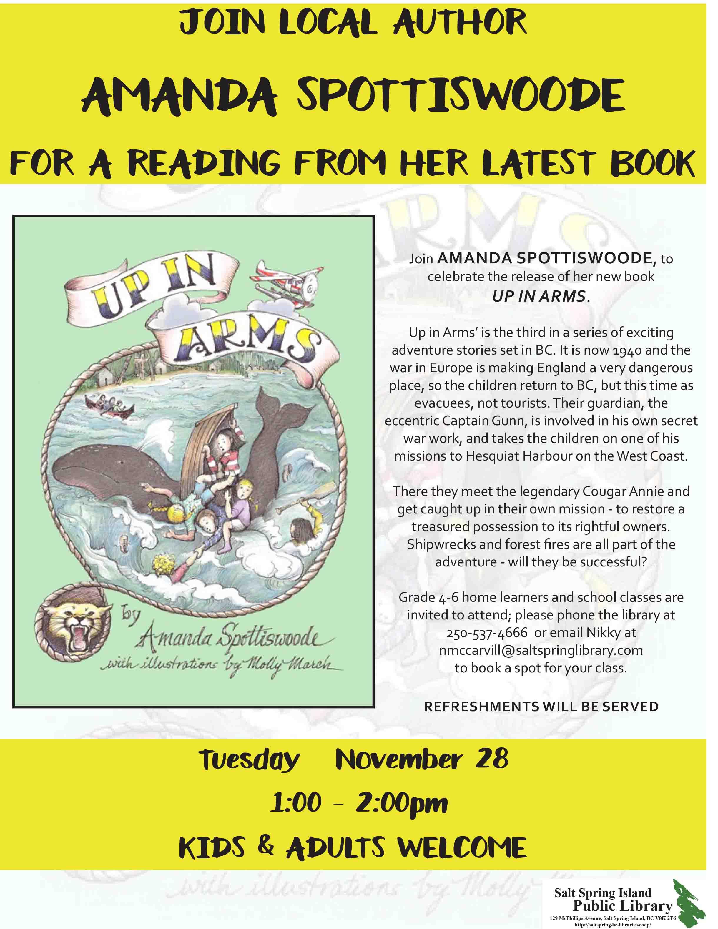 Amanda Spottiswoode @ Library Program Room