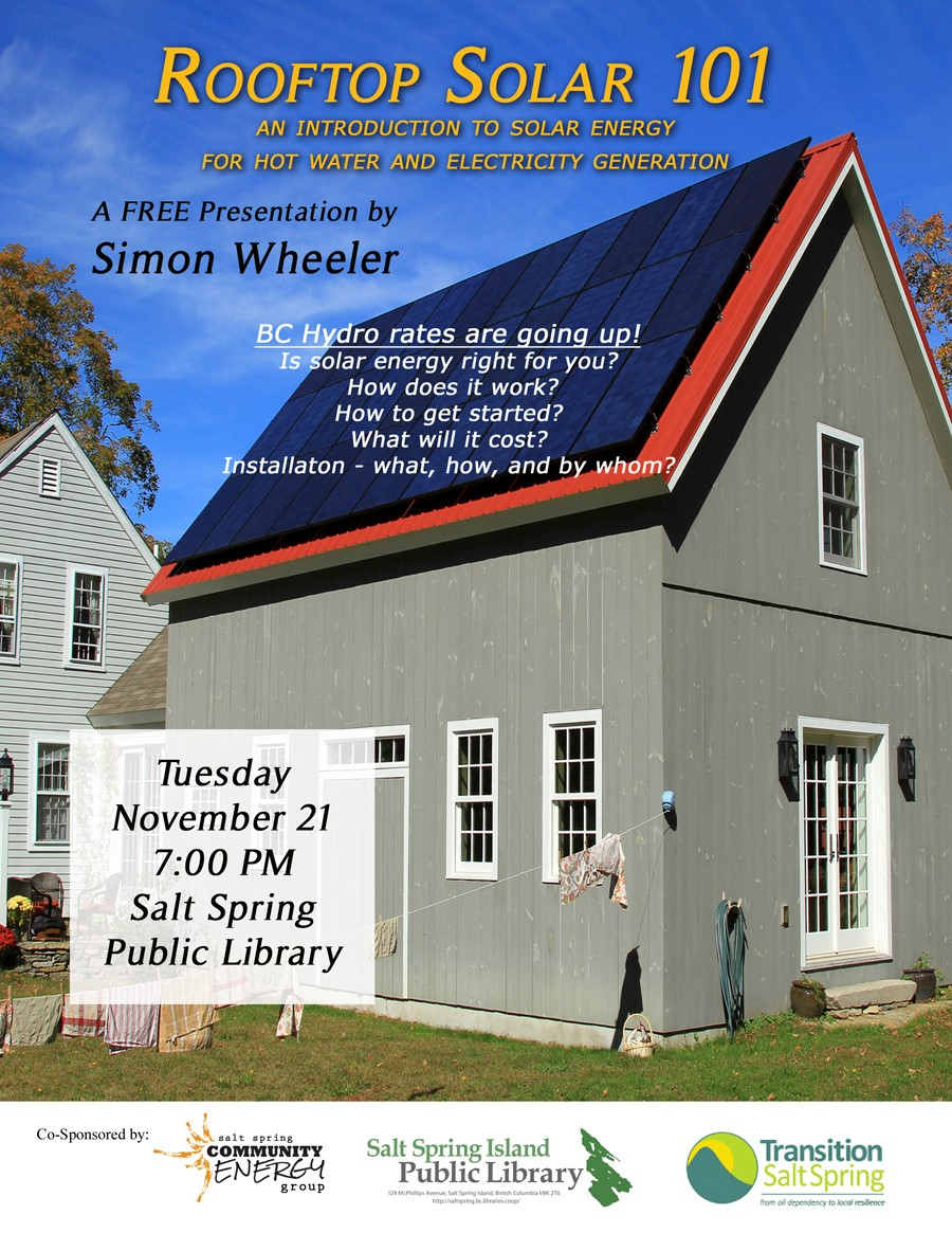 Rooftop Solar 101 @ Library Program Room