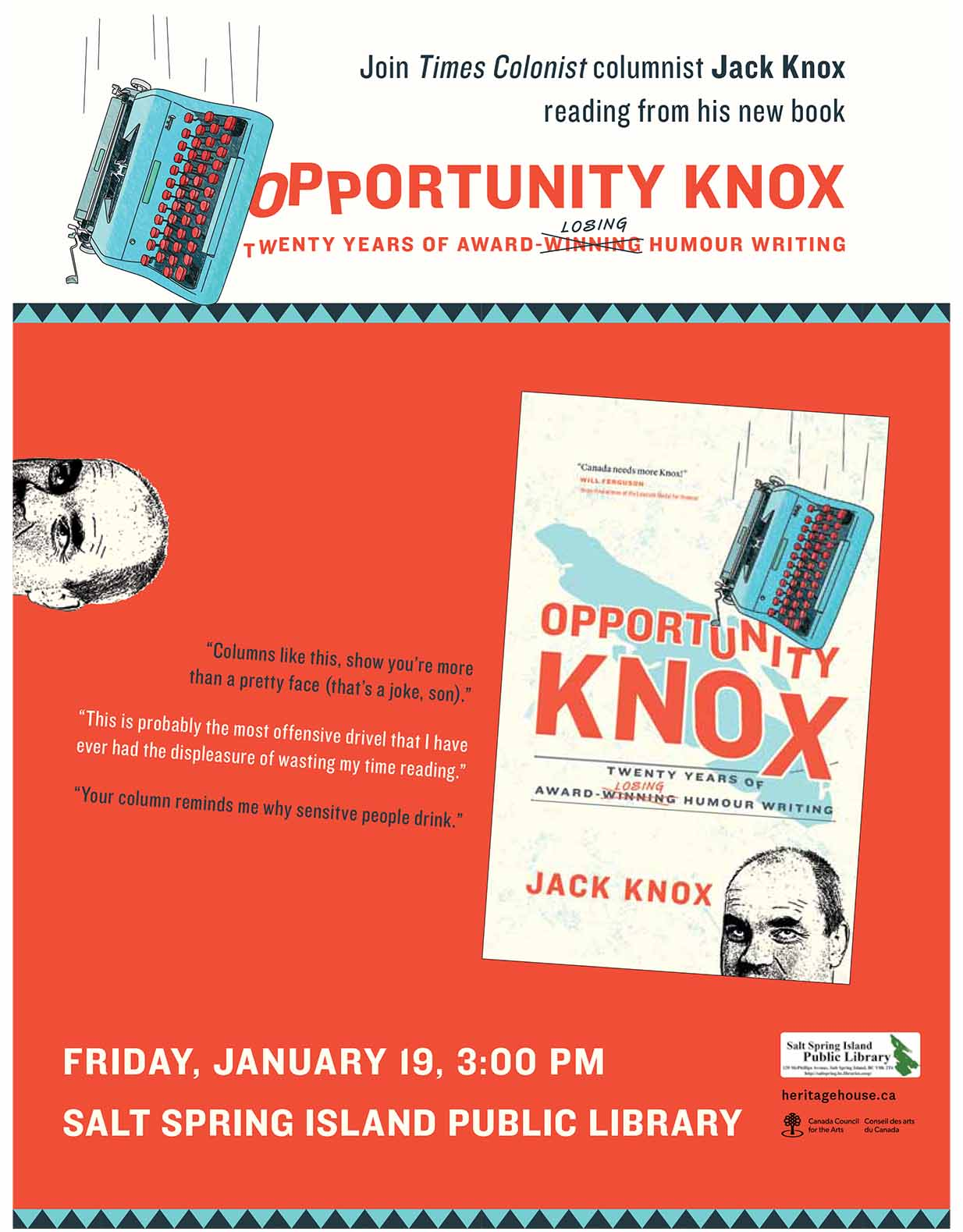 Jack Knox @ Library Program Room