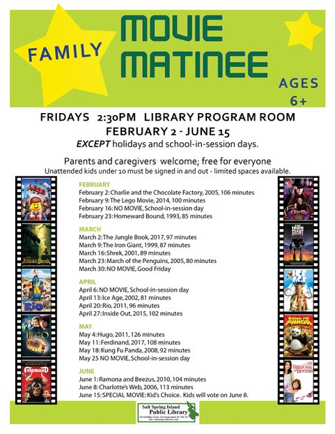 Family Movie Matinee @ Library Program Room