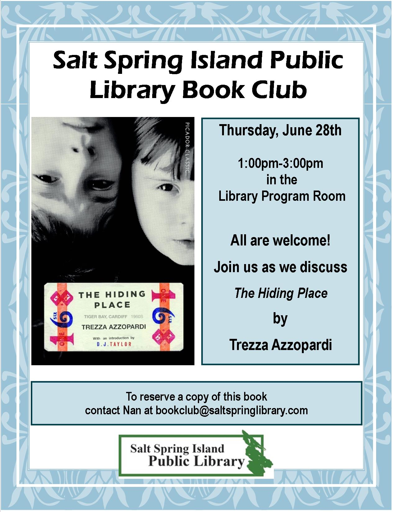 Library Book Club Poster June 2018