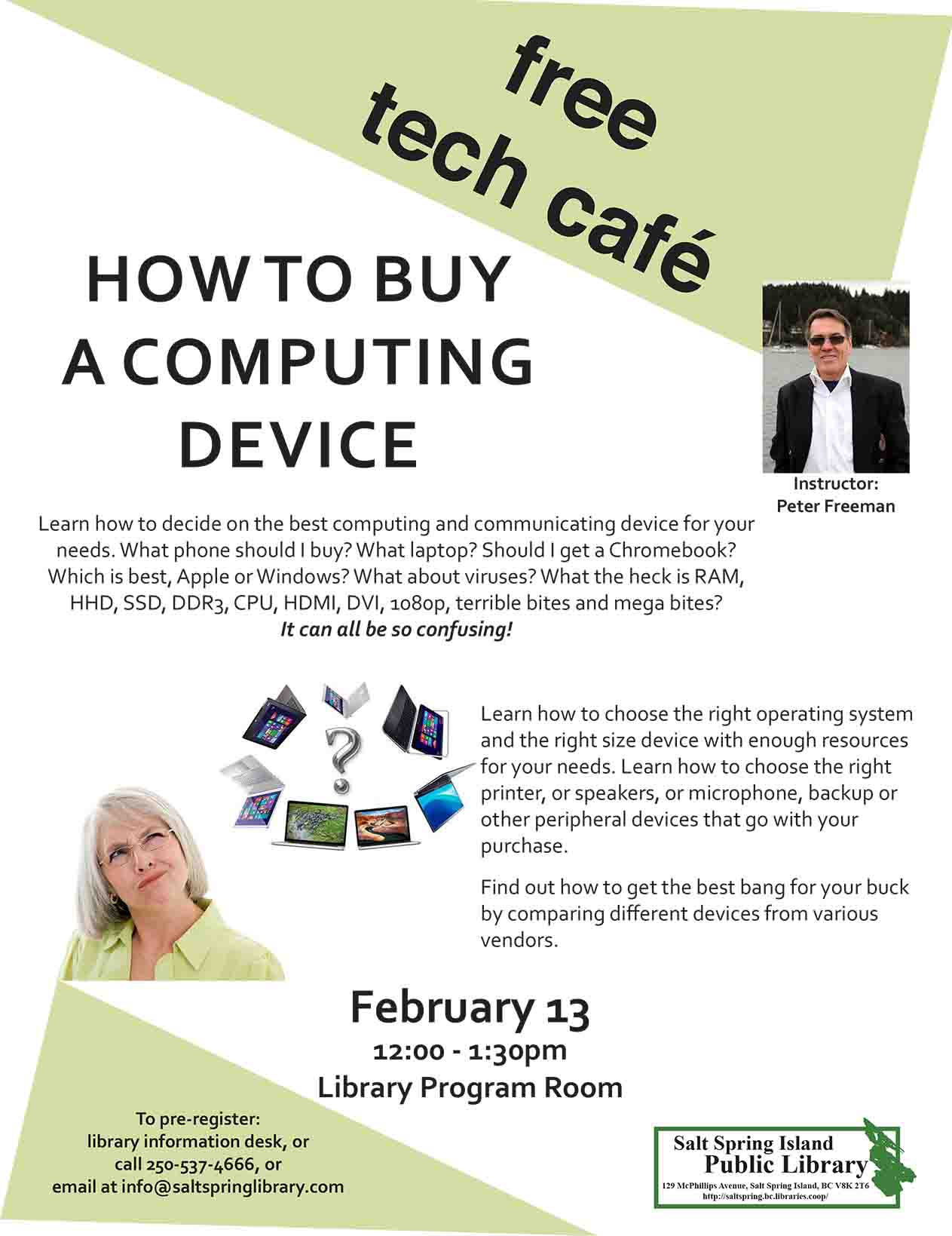 Tech Cafe: How to Buy a Computing Device @ Library Program Room