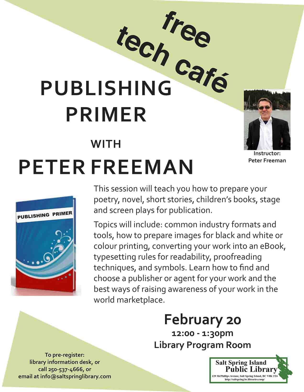 Tech Cafe: Publishing Primer @ Library Program Room