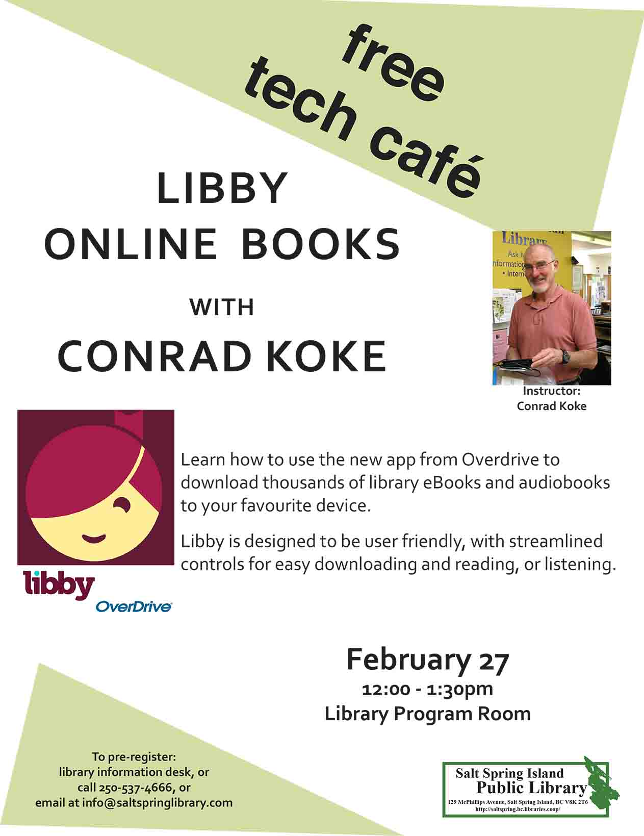 Tech Cafe: Libby Online Books @ Library Program Room