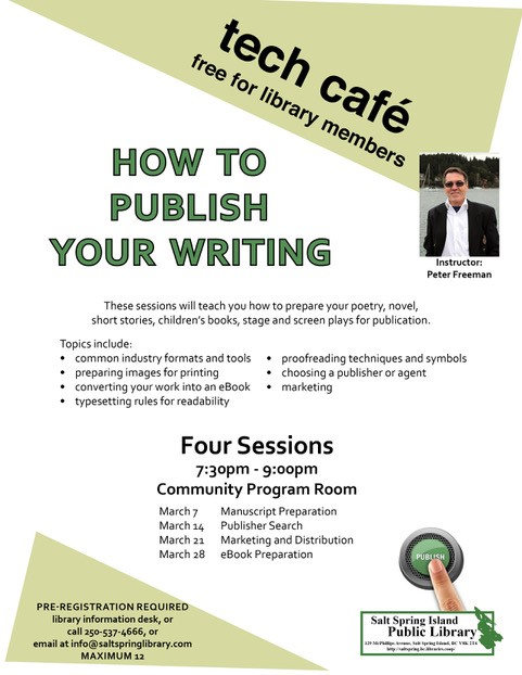 How to Publish your Writing @ Library Program Room