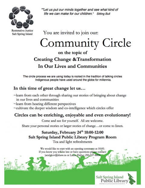 Community Circle @ Library Program Room