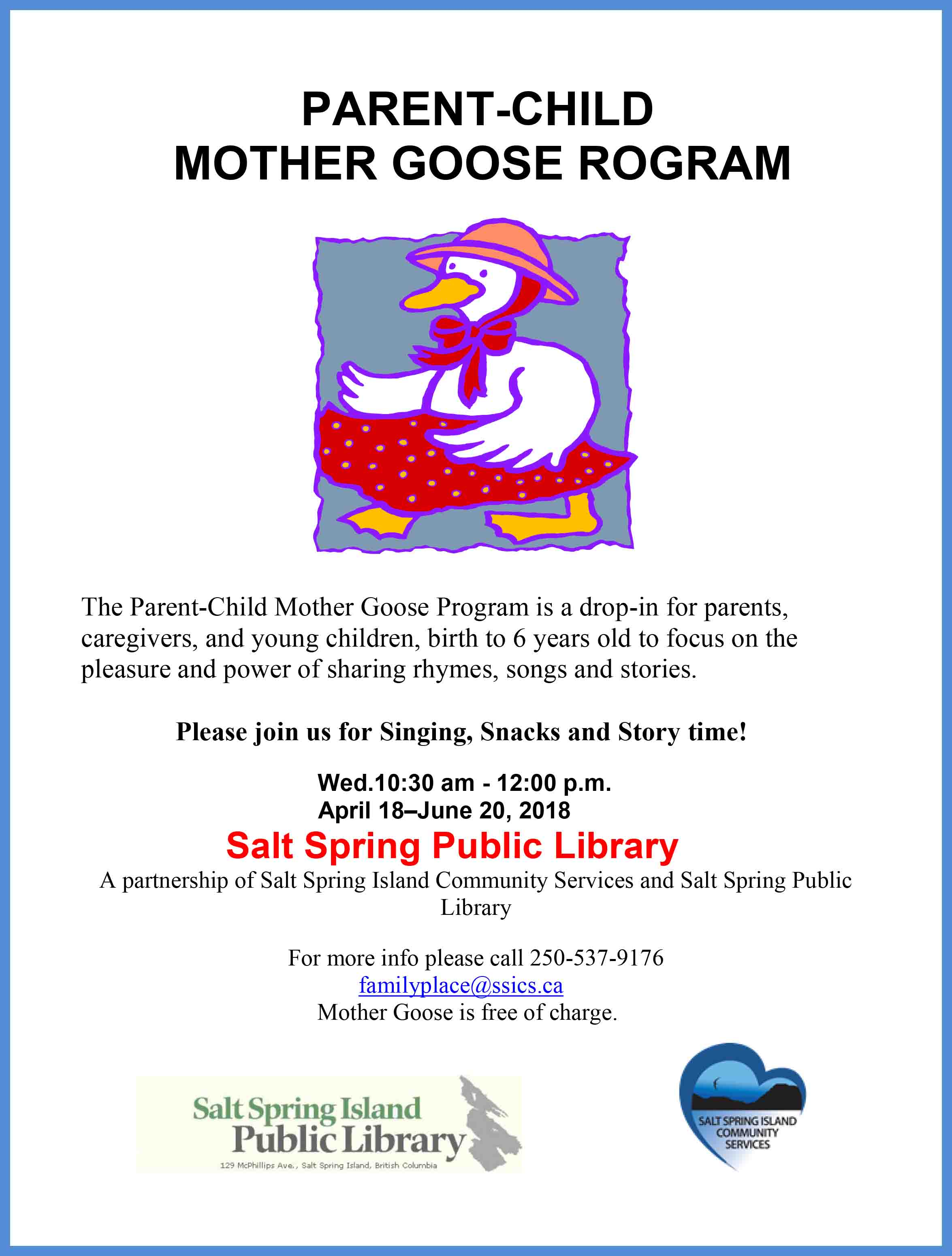 Parent-Child Mother Goose Program