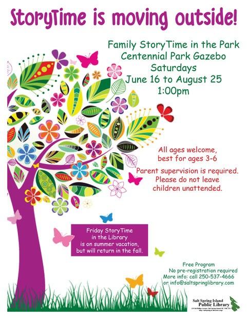 StoryTime in the Park @ Centennial Park Gazebo