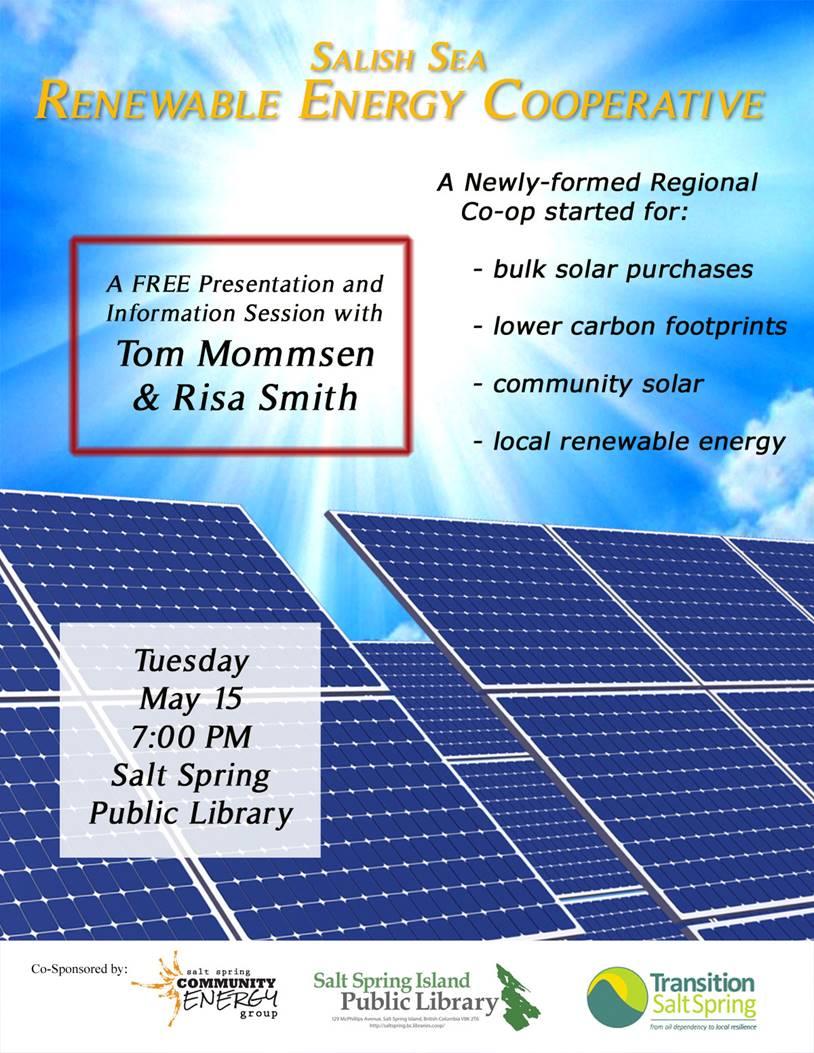 Salish Sea Renewable Energy Cooperative talk