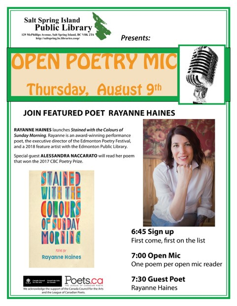 Poetry night - August 2018