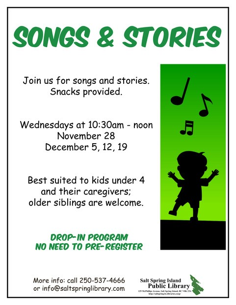 Songs and Stories with Nomi @ Salt Spring Library