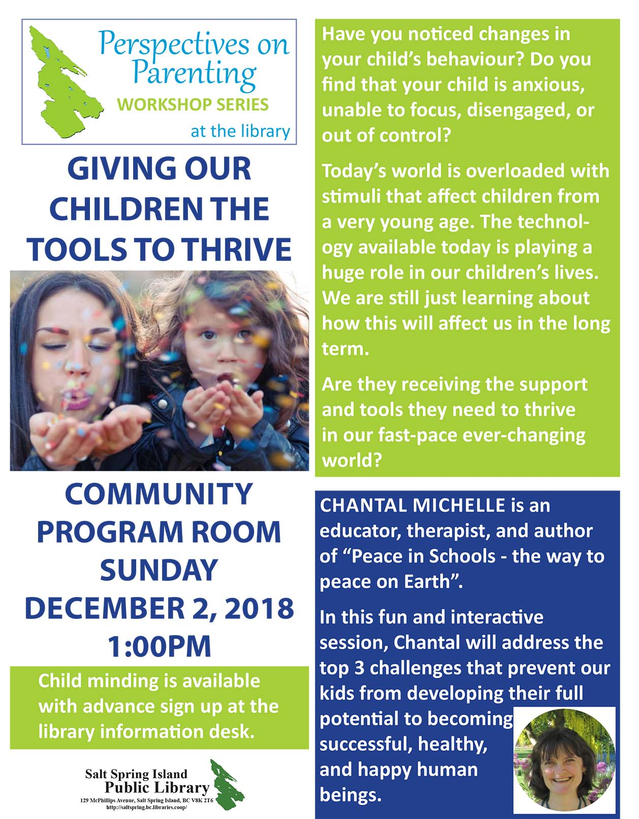 Perspectives on Parenting: Giving our Children the Tools to Thrive @ Community Program Room