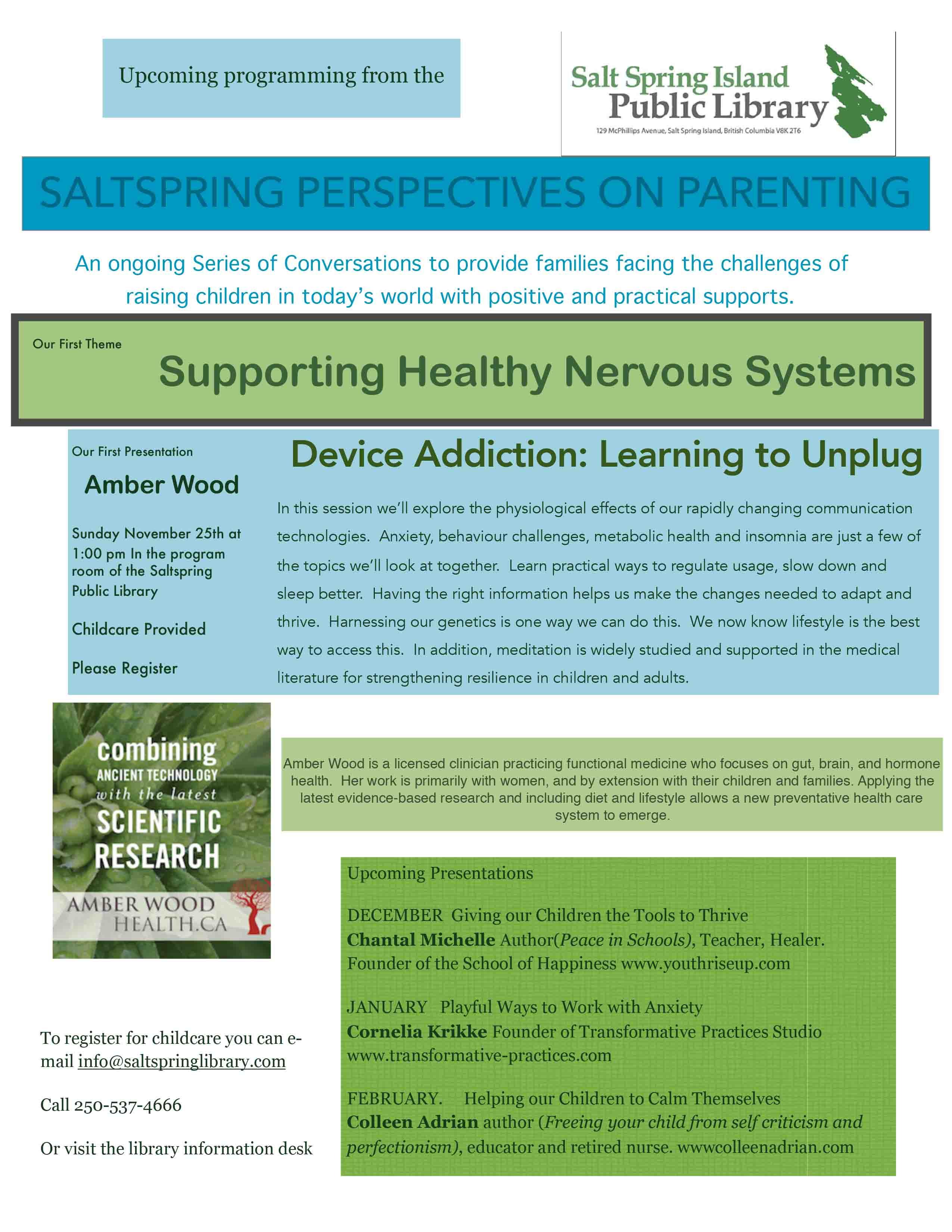 Amber Wood: Device Addiction @ Community Program Room