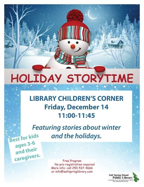 Holiday StoryTime @ Library Children's Corner
