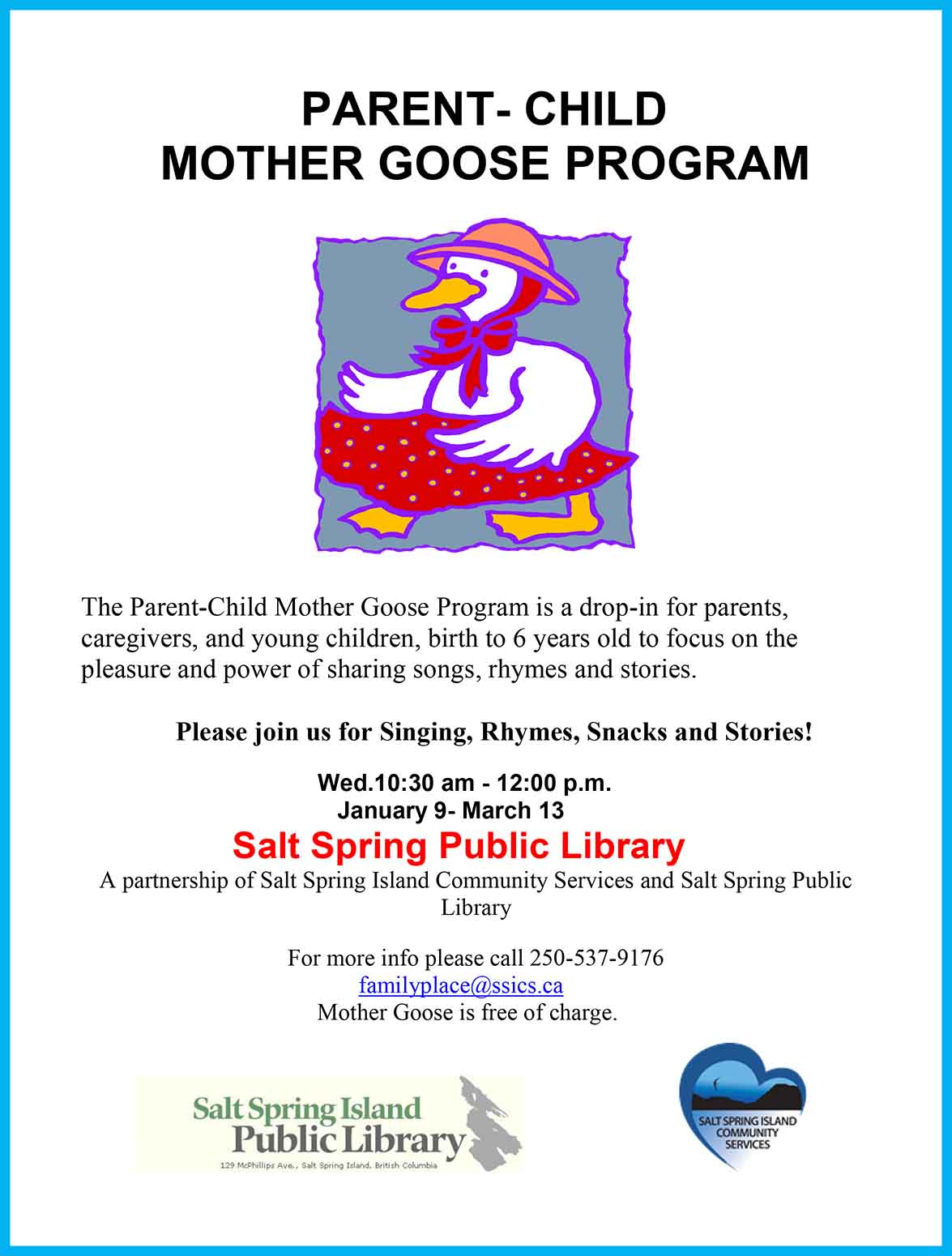 Parent-Child Mother Goose Program @ Community Program Room