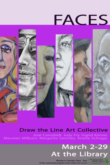 Faces - Draw the Line Art Collective