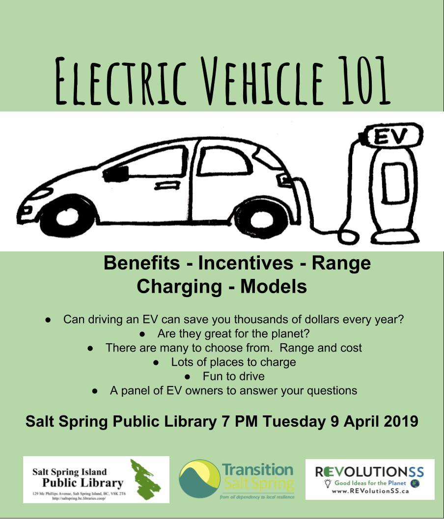 EV 101: Benefits - Incentives –Range-Charging - Models @ Community Program Room