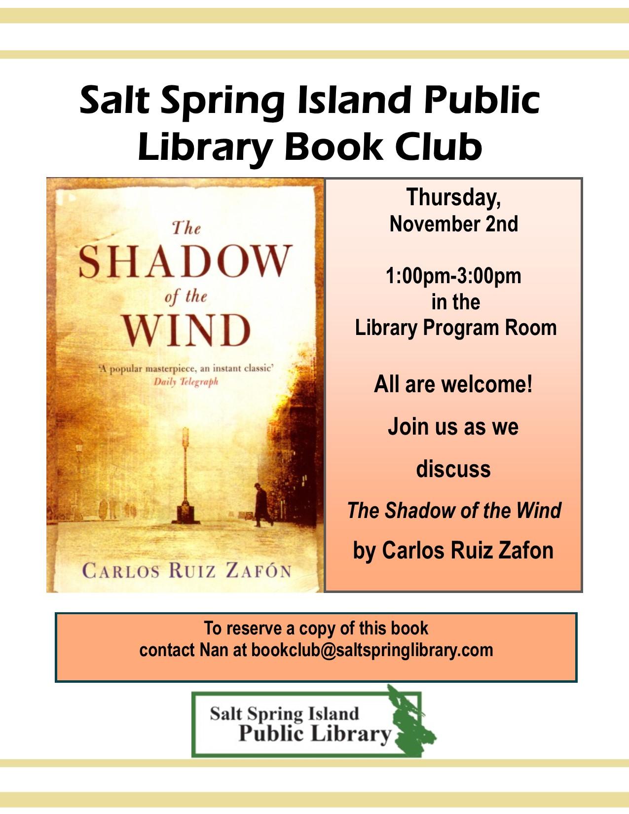 Library Book Club @ Community Program Room