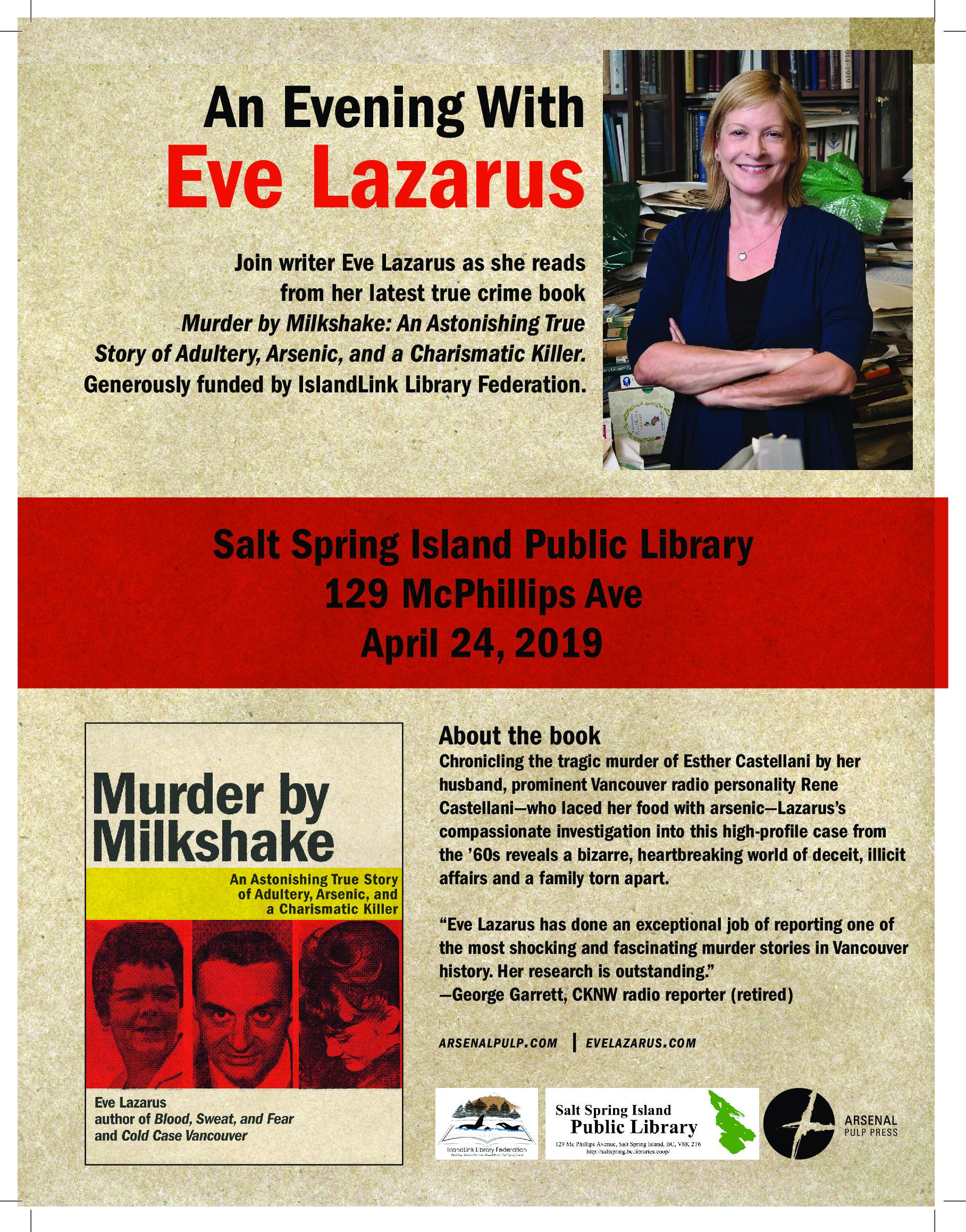 Eve Lazarus @ Community Program Room
