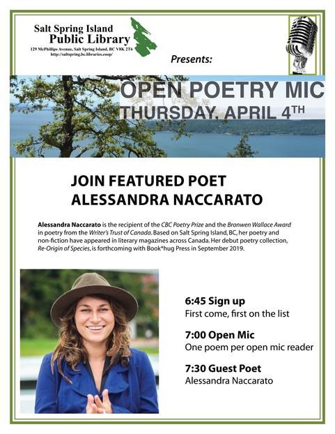 Open Poetry Mic @ Community Program Room