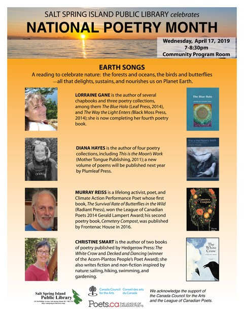 National Poetry Month @ Community Program Room