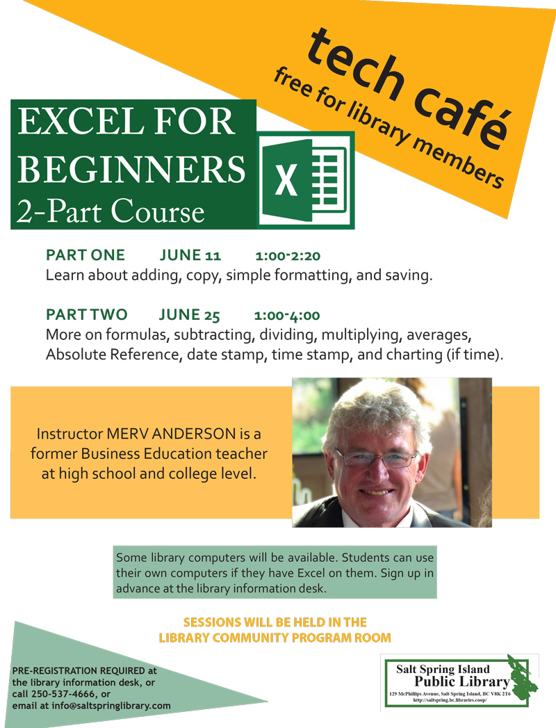 Tech Cafe Excel sessions June 2019