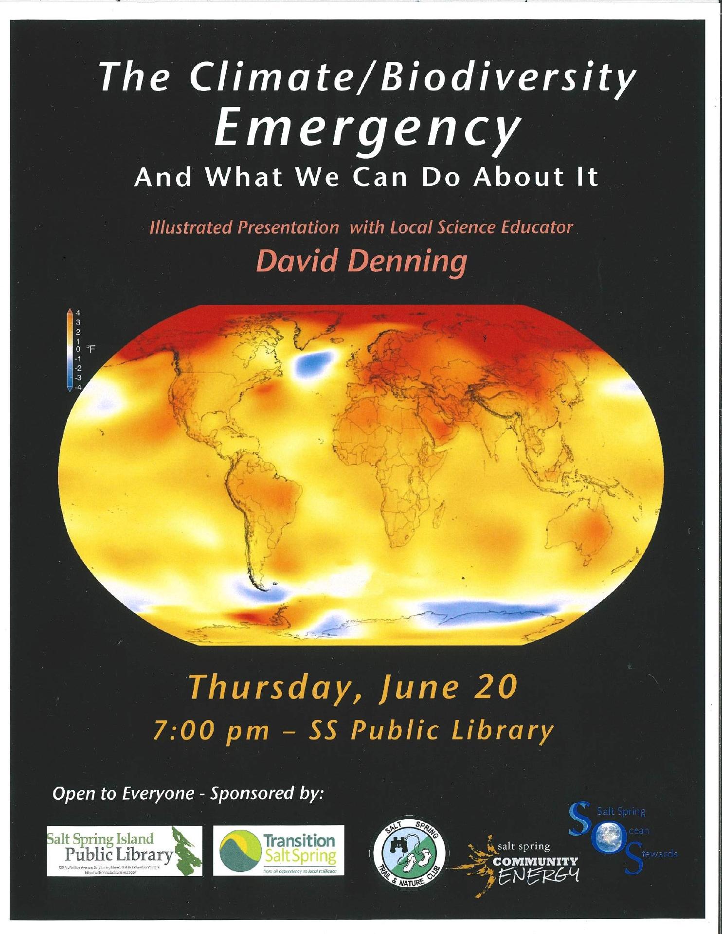 Climate and Biodiversity Emergency @ Community Program Room