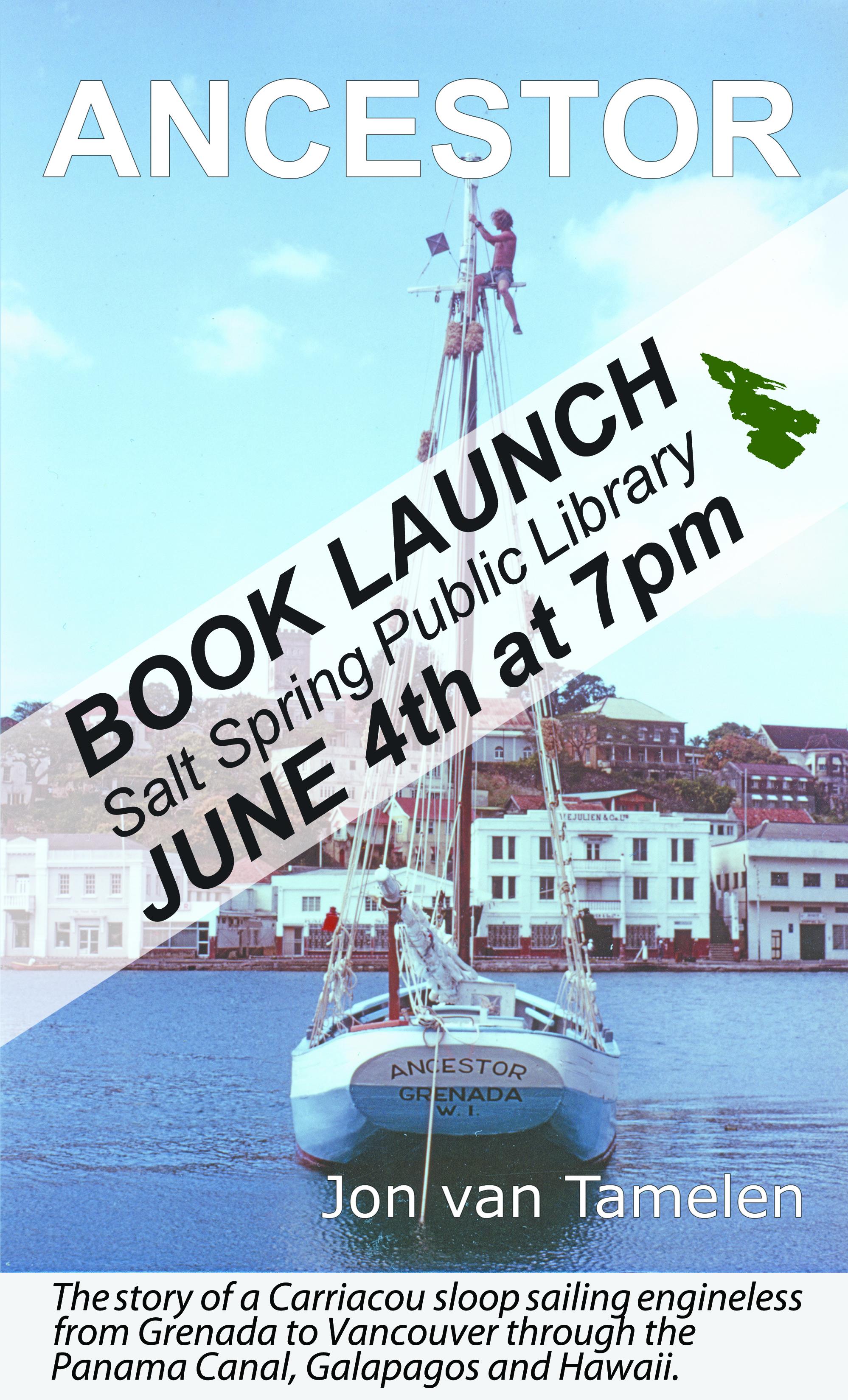Book Launch:  Jon van Tamelen - The Ancestor @ Community Program Room
