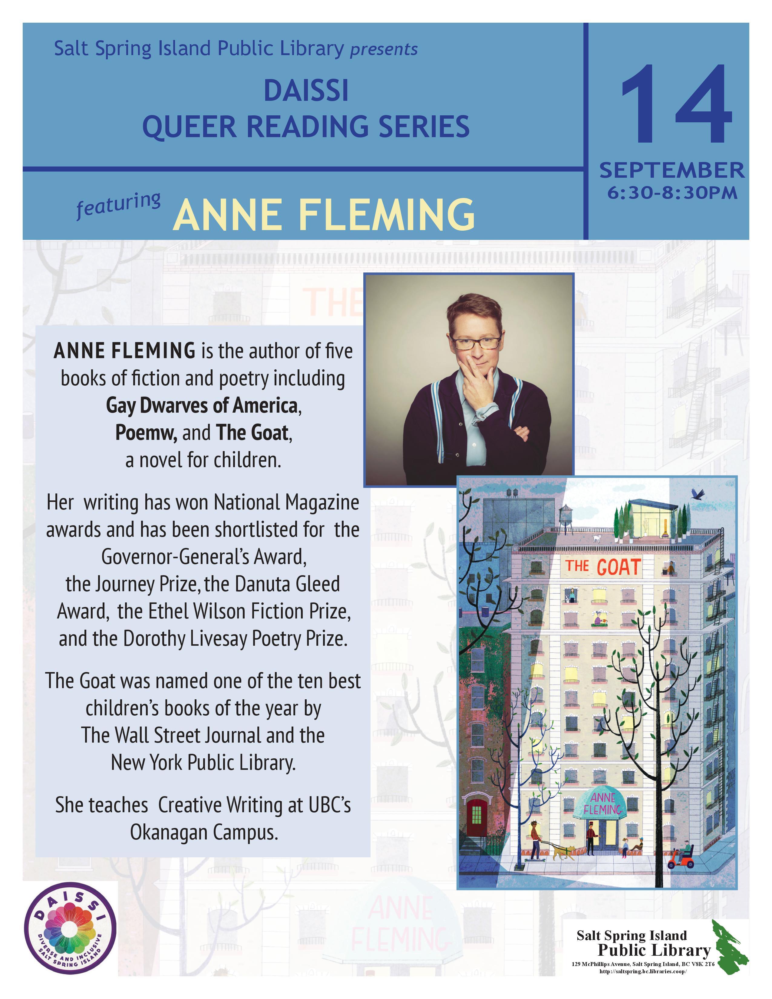 Anne Fleming @ Community Program Room