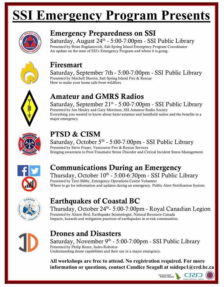 Emergency Preparedness Series @ Community Program Room